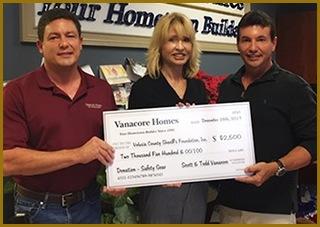 Vanacore Homes Donation